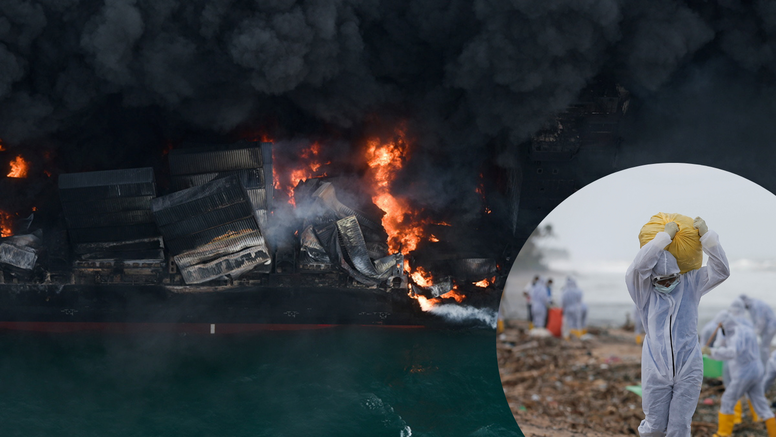 Katastrofa na plaži Sri Lanke: Kontejnerski brod gori već tjedan dana, onečišćenje veliko
