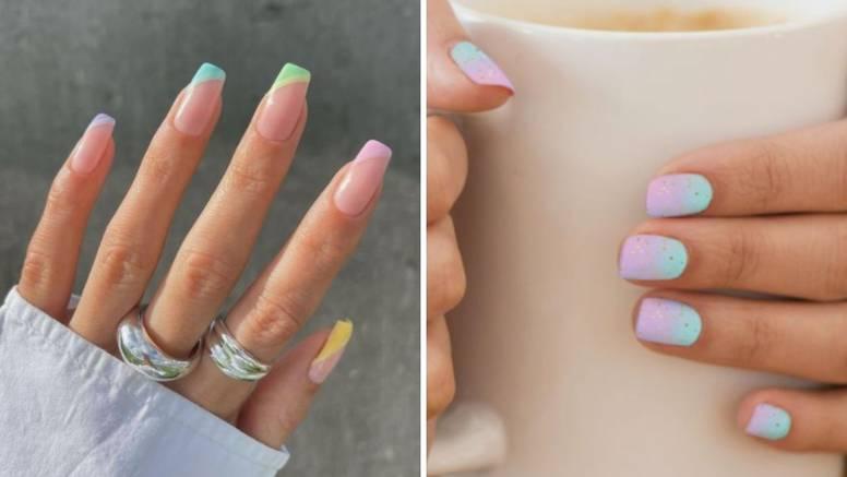 Nježniji i lepršavi beauty trend: Nokti u duginim bojama pastela