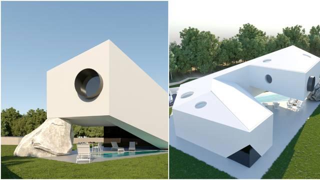 Arhitektonski biser u Istri: Kuća na stijeni koja se proteže iznad bazena pravo je čudo