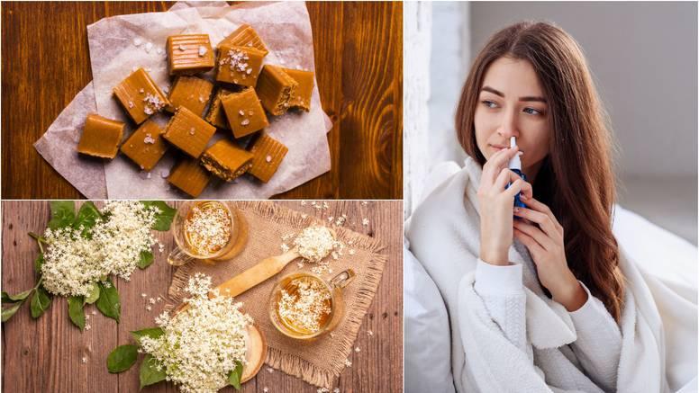 Domaći pripravci za prehladu: Napravite sami otopinu za nos, bombone i čaj protiv kašlja...