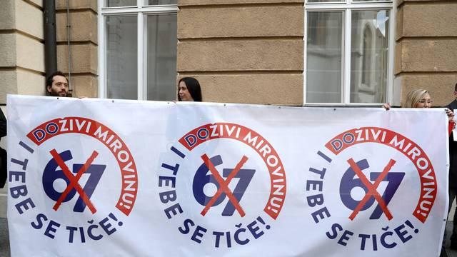 Zagreb: Sindikati prosvjeduju protiv mirovinske reforme