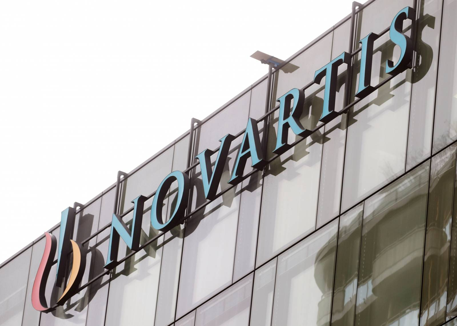 FILE PHOTO: Logo is seen at a building of Swiss drugmaker Novartis in Rotkreuz