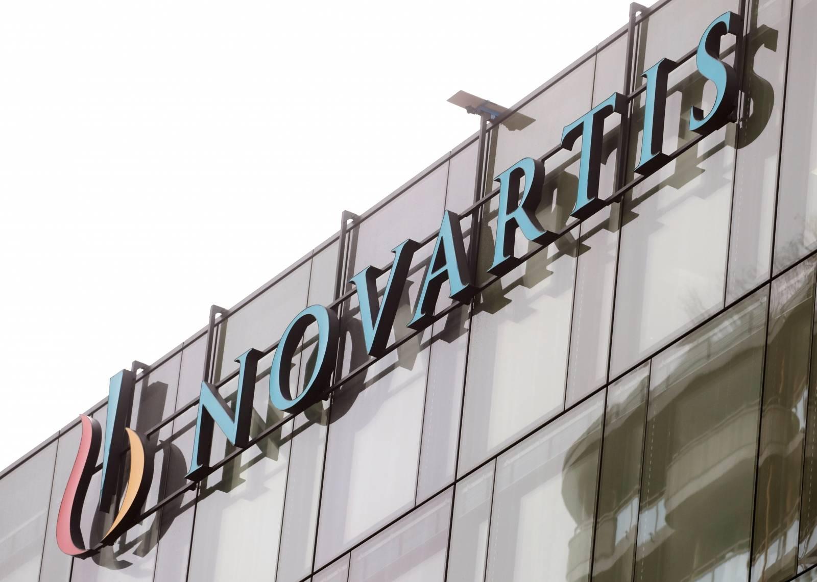 FILE PHOTO: Logo is seen at a building of Swiss drugmaker Novartis in Rotkreuz
