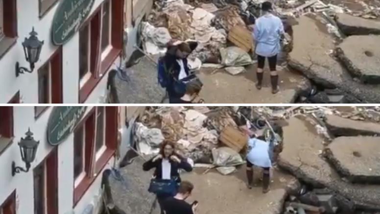 Njemačka novinarka uvaljala se u blato pa lagala da je pomogla u čišćenju ulica nakon poplave