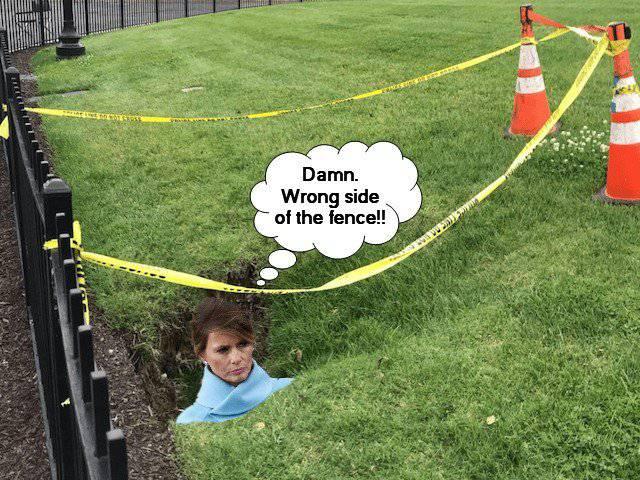 Rupa na travnjaku Bijele kuće: 'To je Melanijin tunel za bijeg'