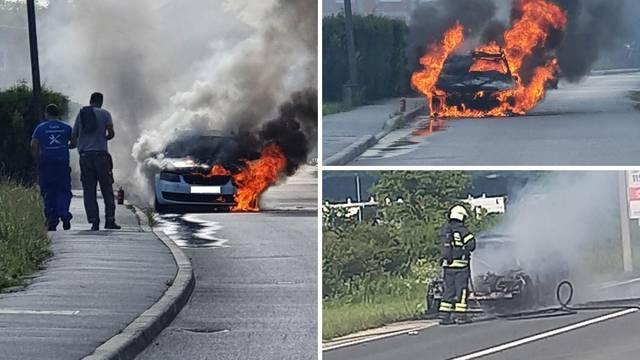 U Svetoj Nedelji izgorio novi BMW 5, a u Brezovici Škoda