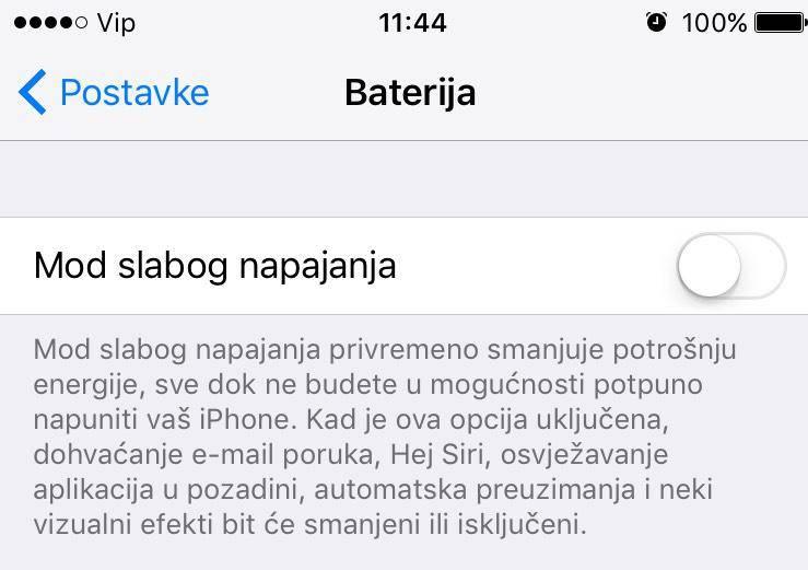 Zašto je baterija na iPhoneu žute boje i kako to promijeniti?