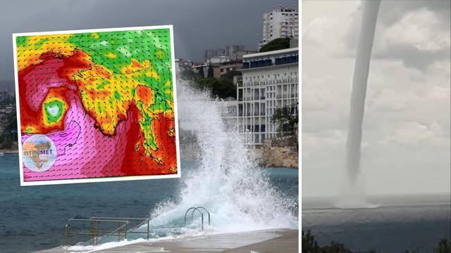 Medicane i na Jadranu? Večeras stiže novo pogoršanje vremena, uz olujno jugo nosi obilne kiše