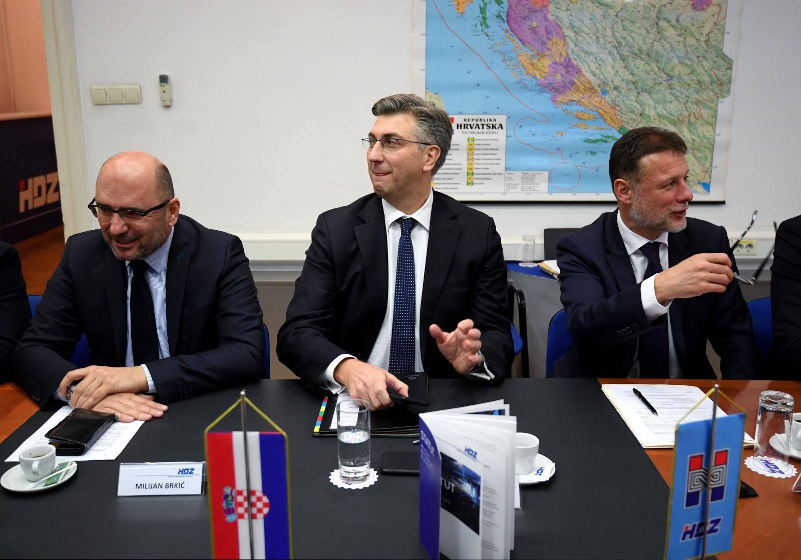 Zagreb: Održana sjednica Predsjedništva i Nacionalnog vijeća HDZ-a