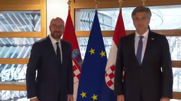 Plenković i Charles Michel: Hrvatska će dobiti dvostruko veći iznos nego što je imala