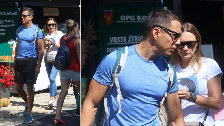 Marija Valentića i njegovu curu Ljiljanu fotografi 'uhvatili' u šetnji s trogodišnjim sinom