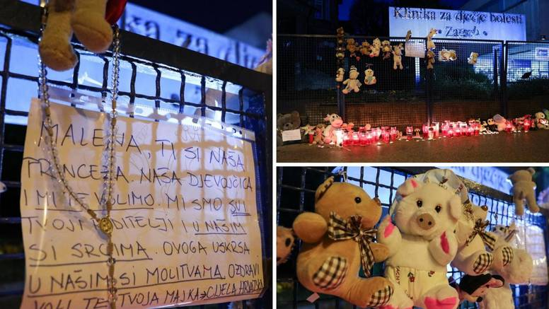 Građani ispred Klaićeve ostavili igračke za preminulu djevojčicu: 'Svi smo ti roditelji, volimo te'
