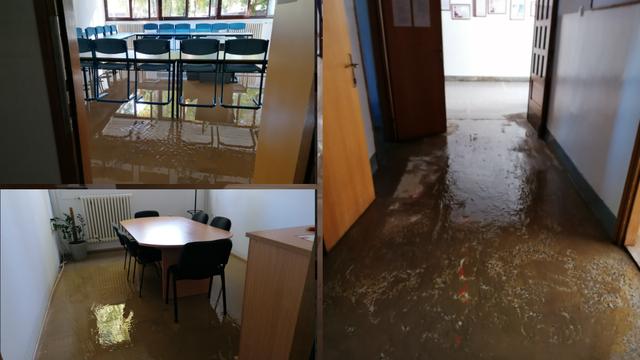 'Šteta je velika, bujica je probila  vrata i potopila sve. Učionice, kancelarije, sve je pod vodom'