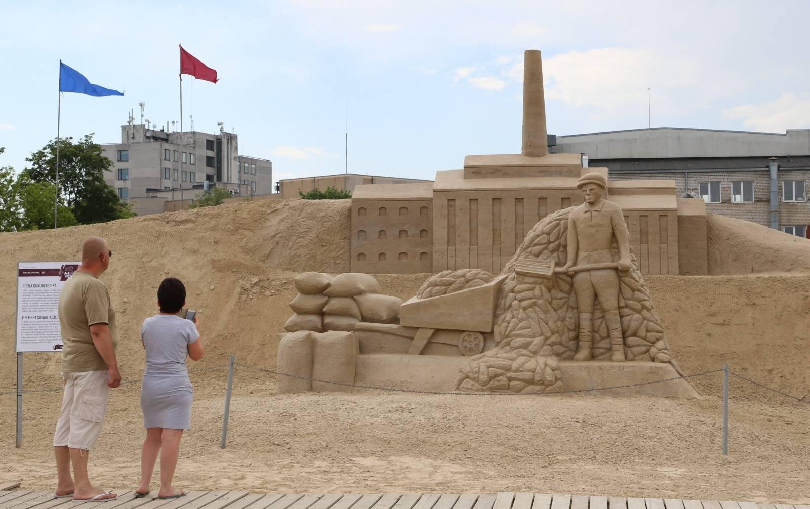 Sand Sculpture Exhibition in Latvia