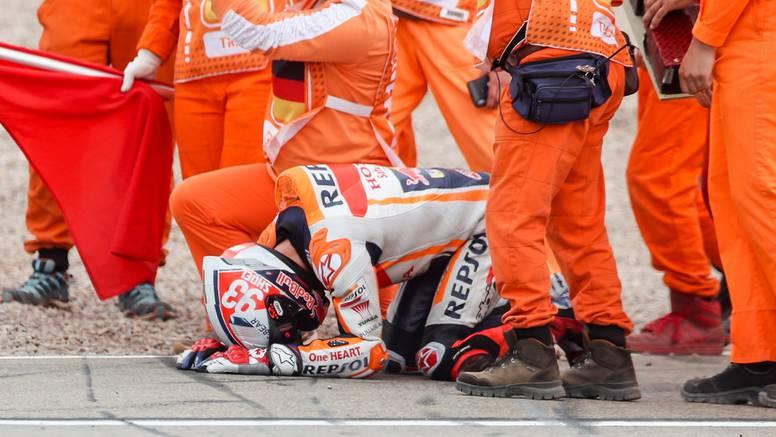 VIDEO Stravičan pad Marqueza: Motor ga daleko katapultirao