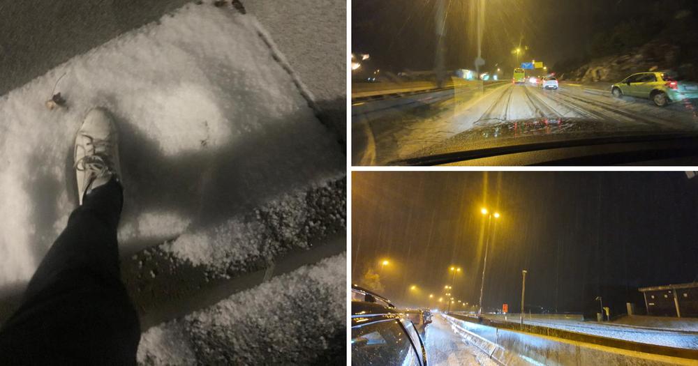 Bijelo kod Splita: Tuča zabijelila ceste, oluja zakrčila promet