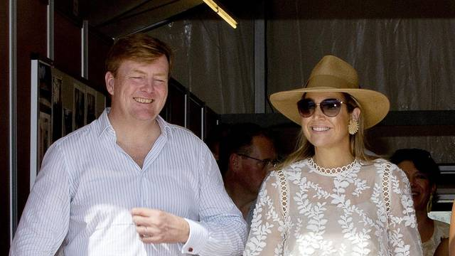 Dutch Royals visiting Sint Maarten