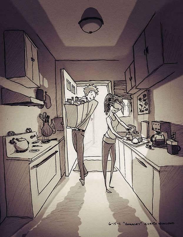 Ilustrira život sa suprugom - od pospanih jutra do pobačaja i novog života: 'Ona mi je sve'