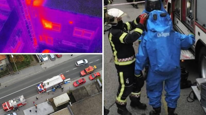 Zeleni dim u Novom Zagrebu: Vatrogasci su intervenirali u posebnim zaštitnim odijelima