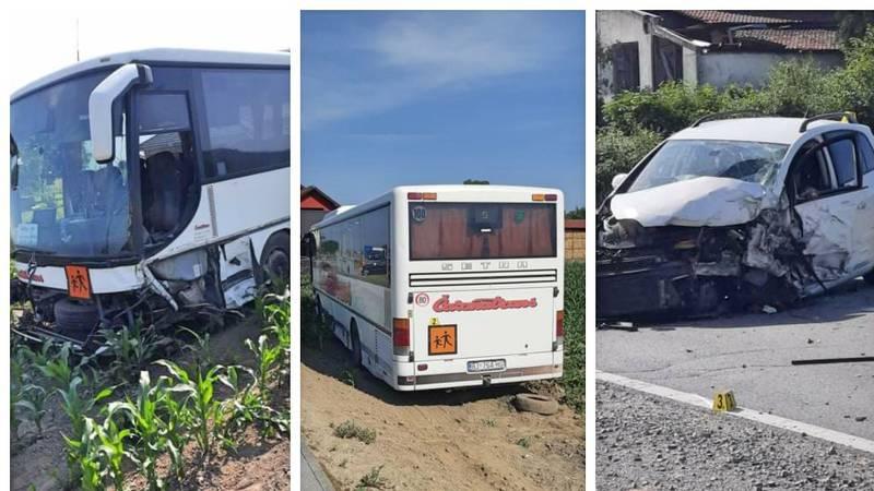 Sudarili se auto i autobus pun školaraca u Jugovom Polju: Vozač auta je pokušao pobjeći?
