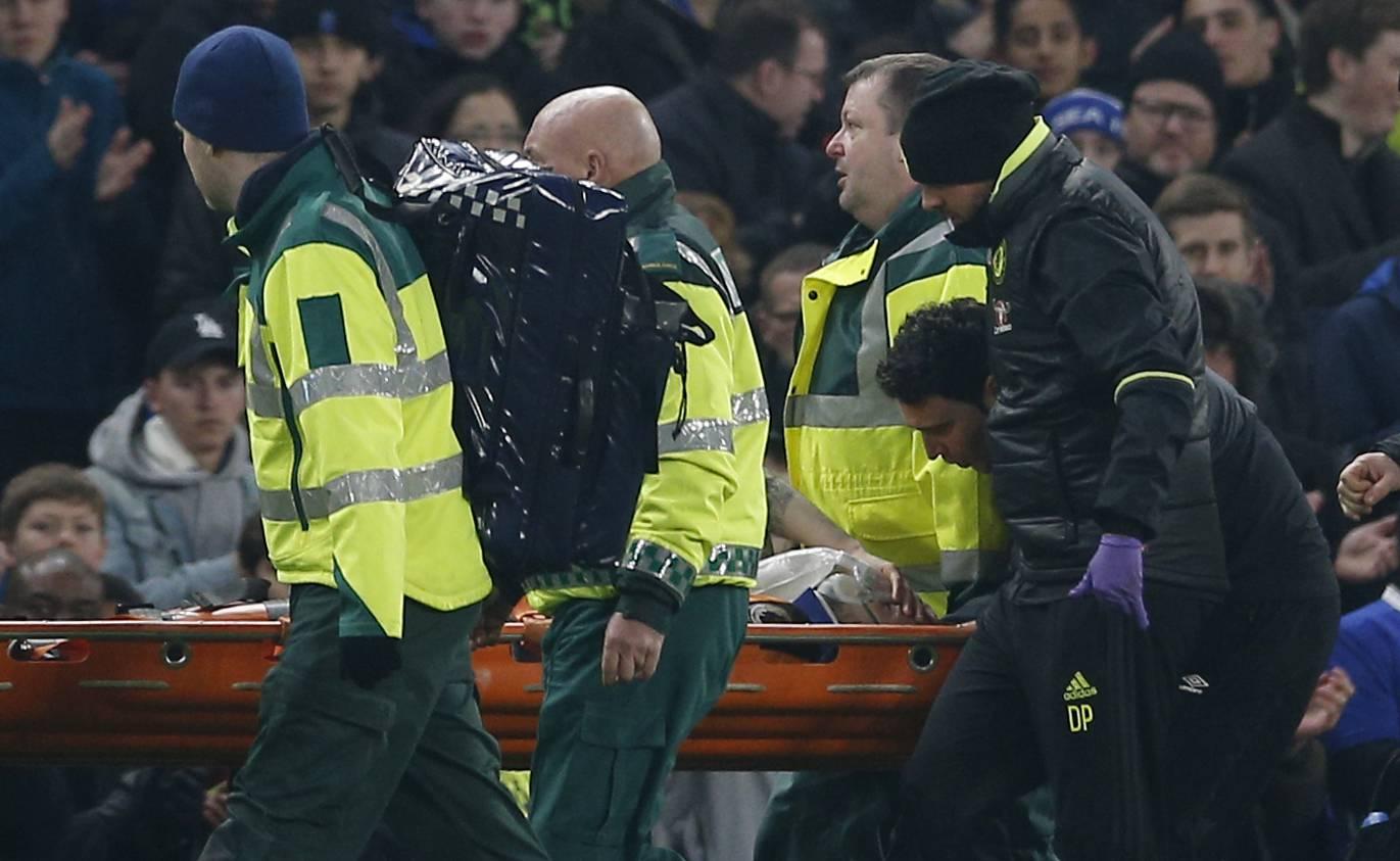 Hull City's Ryan Mason is stretchered off injured