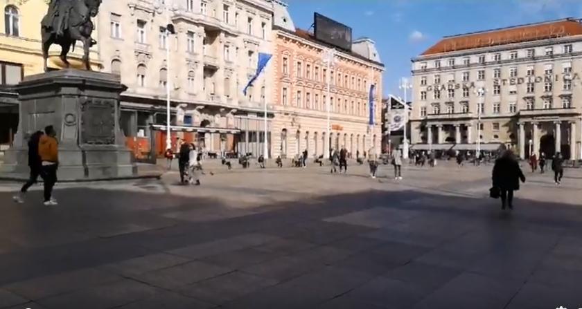 Subotnja špica u doba korone: Centar Zagreba poluprazan