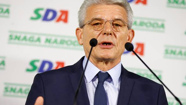 Sefik Dzaferovic of the Party of Democratic Action (SDA) attends a news conference where he declared himself the winner of the Bosniak seat of the Tri-partite Bosnian Presidency in Sarajevo,