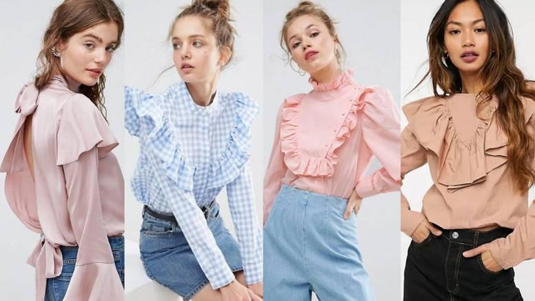 Viktorijanski chic: Slatke košulje pastelnih boja s mini volanima