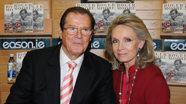 Roger Moore 007 & Wife Kiki weekend in Dublin, Ireland