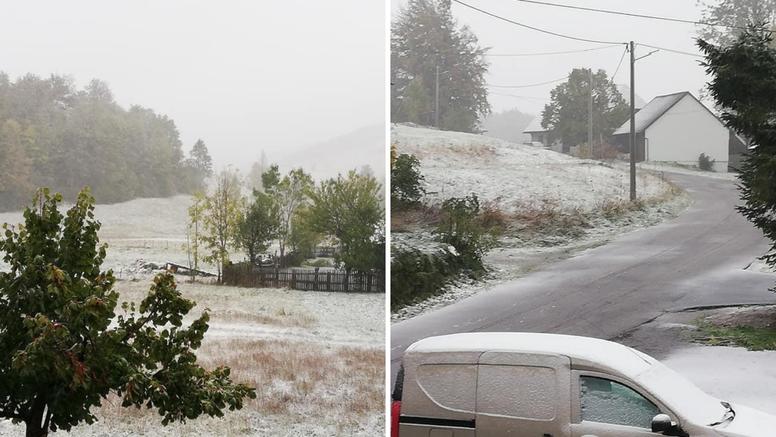 Preskočili jesen: U Gorskom kotaru jutros pada prvi snijeg