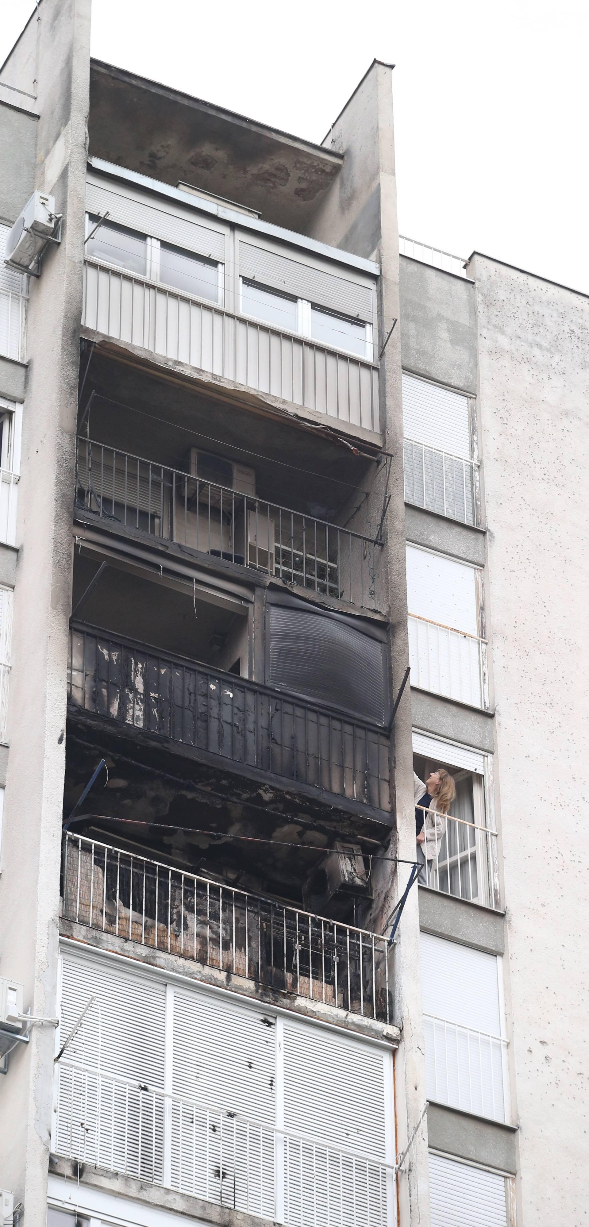 Split: Zbog požara na balkonu vatrogasci evakuirali stanare nebodera