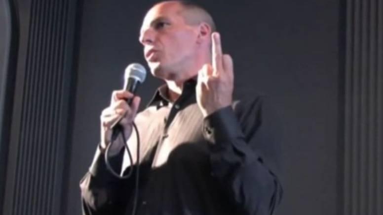 ''Video je montaža, Varoufakis u Zagrebu nije pokazao prst''