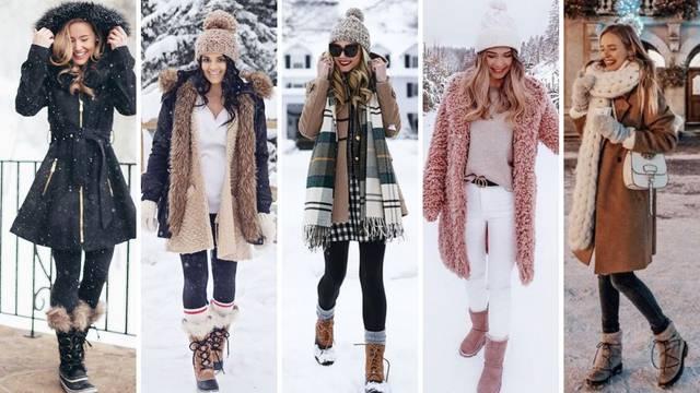 Top 20 kombinacija za šetnju po snijegu - ugodno i  ženstveno
