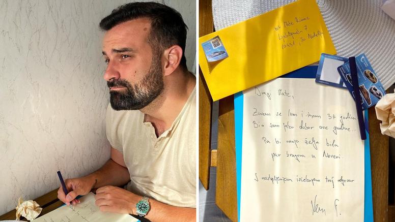 Ivan Šarić napisao pismo Rimcu:  'Moja želja bi bila par krugova u Neveri. Čekam tvoj odgovor'