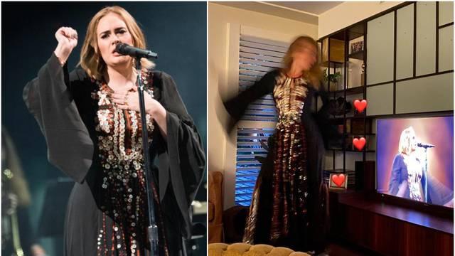 Adele odjenula haljinu od prije četiri godine: Danas visi na njoj