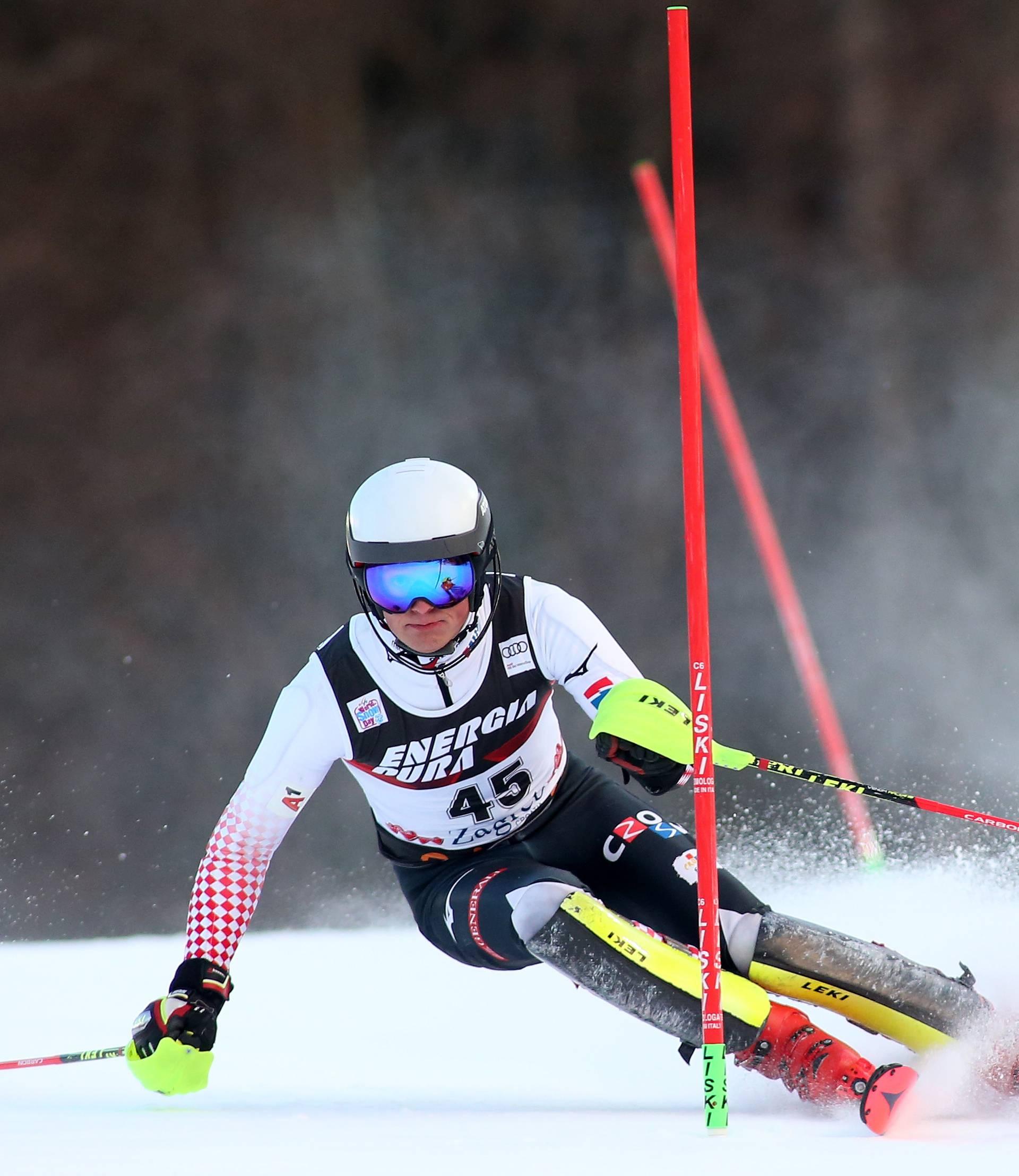 Zagreb: Hrvatski skijaši u drugoj vožnji muškog slaloma Snow Queen Trophy 2019.