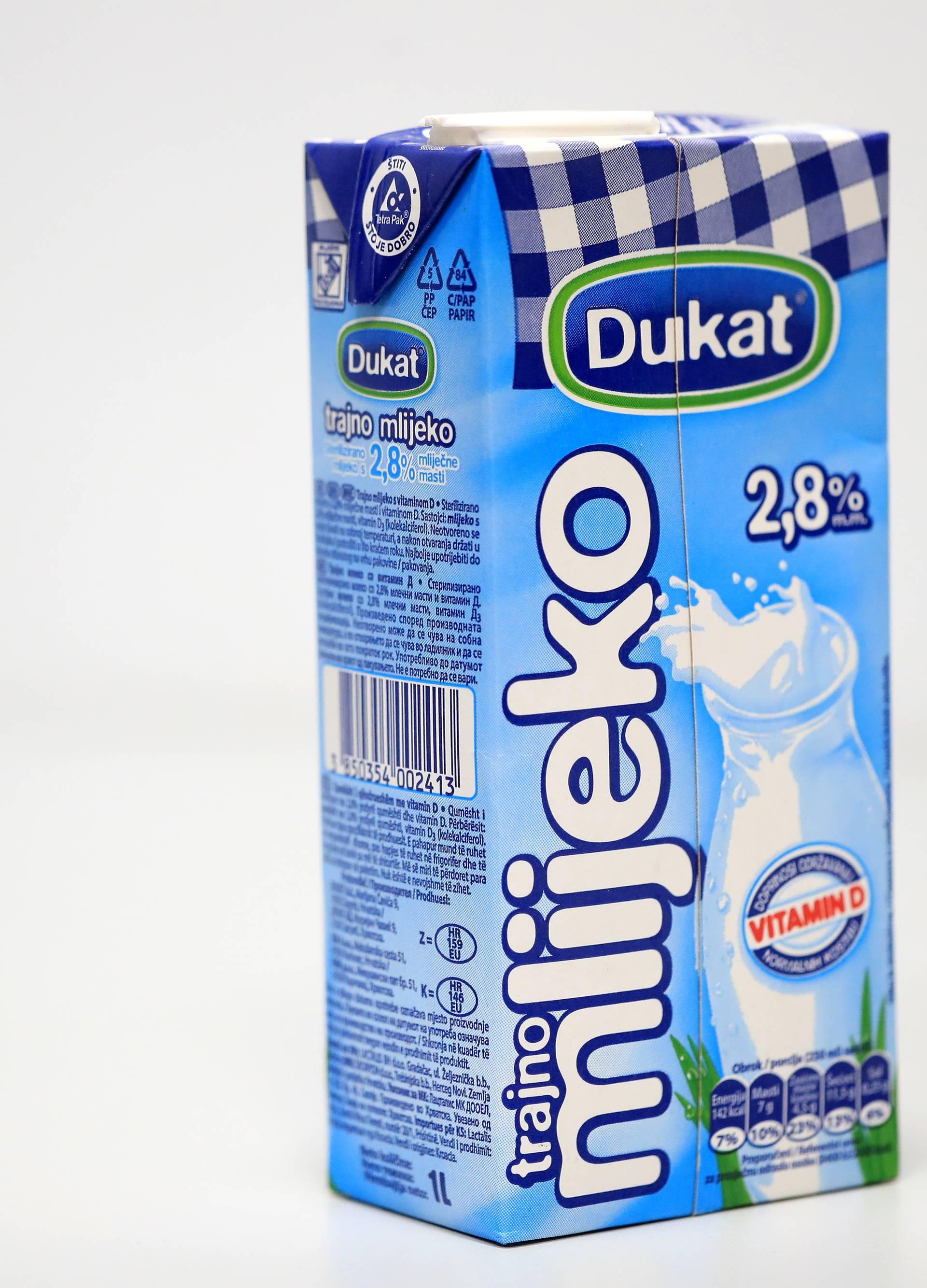 Dukat odlučio 3 mj. Caritasu donirati 30.000 litara mlijeka