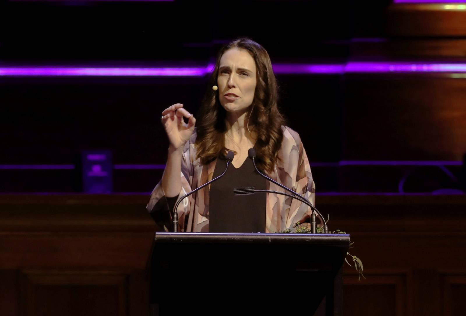 """New Zealand Prime Minister Jacinda Ardern delivers a speech entitled """"Why Does Good Government Matter?"""" at Melbourne Town Hall, Melbourne"""