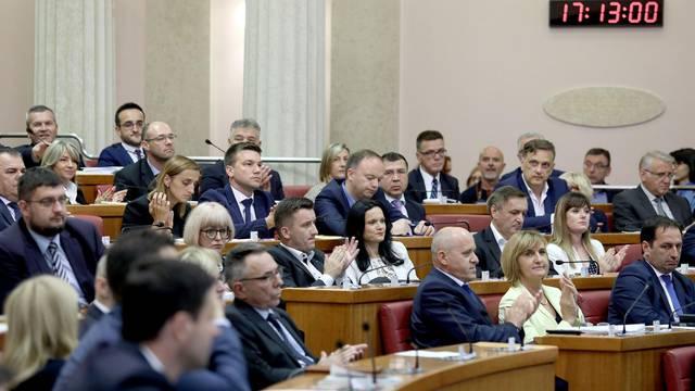 Zagreb:  Sabor na izvanrednoj sjednici raspravlja o rekonstrukciji Vlade i povjerenju novim ministrima