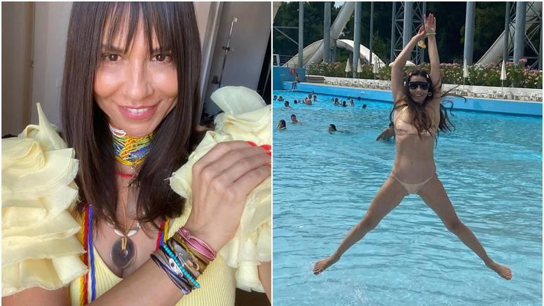 Borna Kotromanić u 50. godini oduševila linijom u zlatnom kupaćem kostimu: 'Najljepša si'