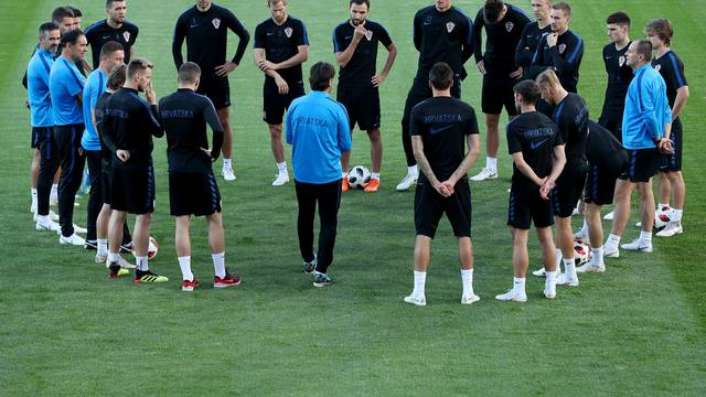 Moskva: Trening hrvatske nogometne reprezentacije