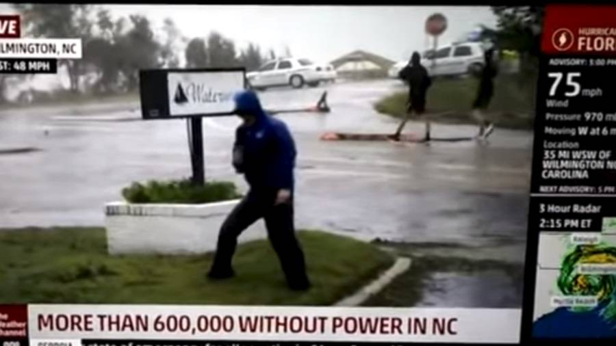 Malo je pretjerao: TV reporter odglumio da ga nosi uragan