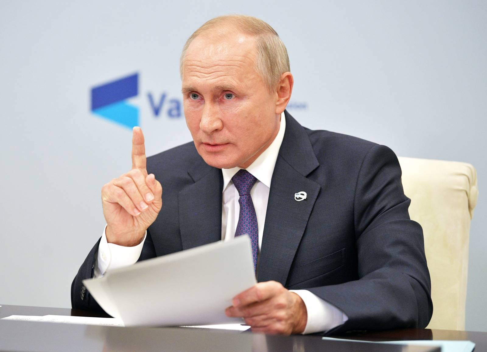 Russia's President Putin speaks at a meeting of the Valdai Discussion Club