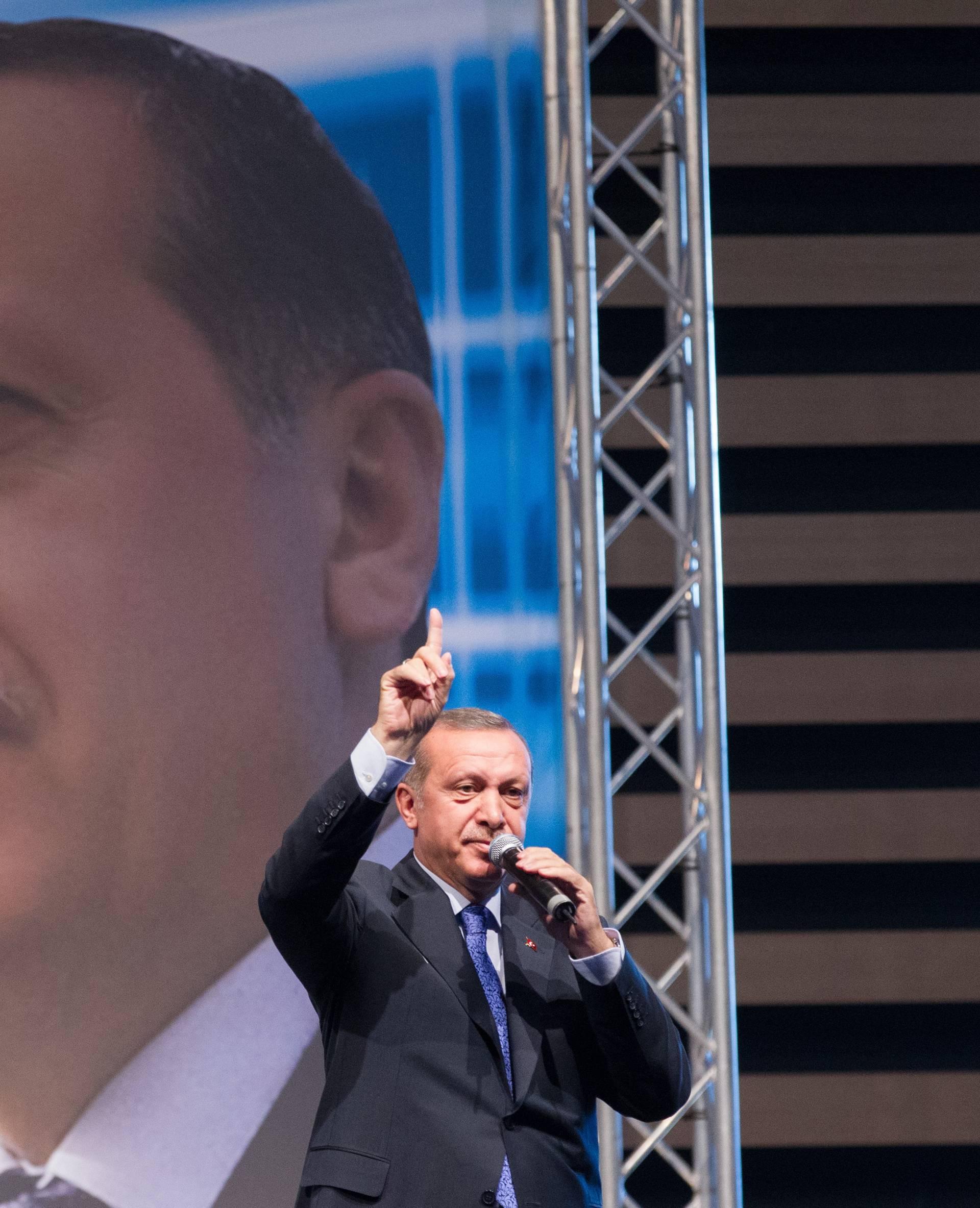 Turkey's PM Recep Tayyip Erdogan Holds A Meeting - Lyon