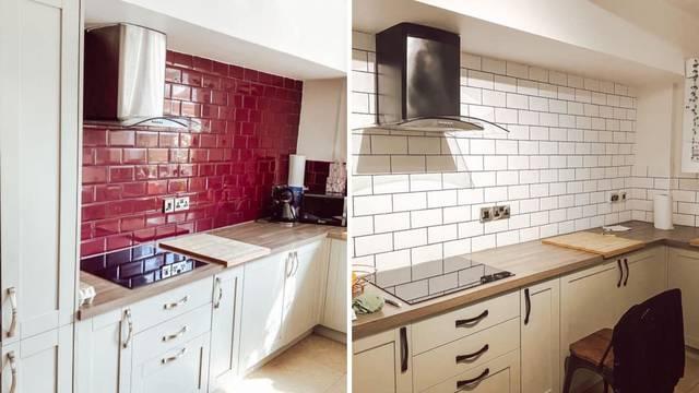 Mrzila je svoju crvenu kuhinju i odlučila je sama transformirati