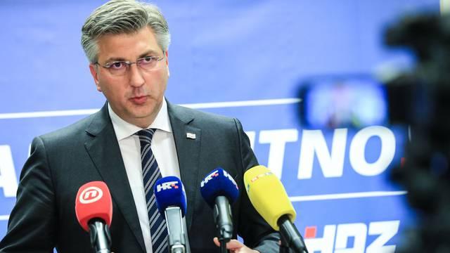 Plenković se obratio medijima nakon sjednice Predsjedništva HDZ-a