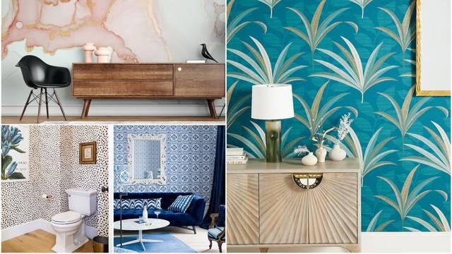 Veliki povratak zidnih tapeta: Hit su tropski uzorci, cvjetovi na tamnoj podlozi i nijanse plave