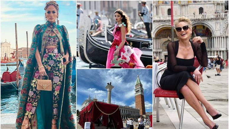 Bili smo u Veneciji: Sharon i J.Lo stvorile gužvu na reviji, a Trg su zatvorili za tisuće ljutitih turista