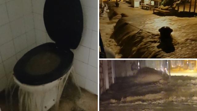 Bujice poplavile Podgoru: Muža sam držala da me ne odnese, voda je izlazila čak iz zahoda...