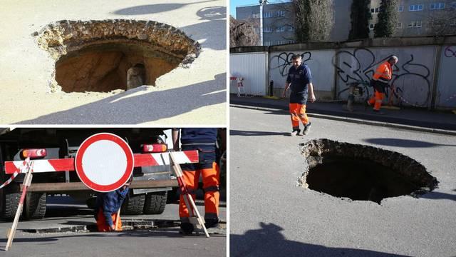 Video: Propao je dio ulice u Maksimiru, policija sve ogradila